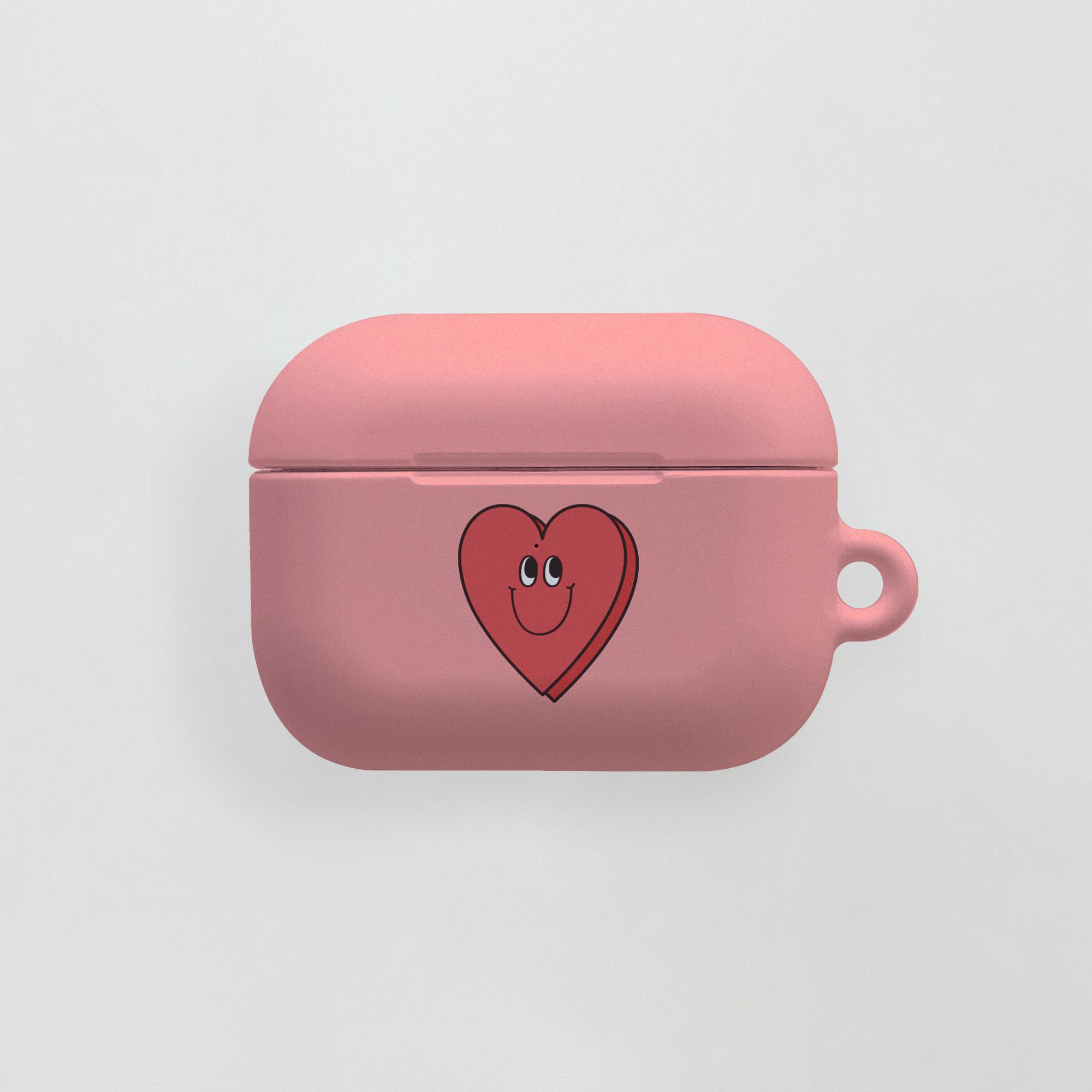 air pro) 욜로 하트 하나 핑크 . 에어팟케이스 에어팟프로케이스 투명케이스 젤리 하드케이스 실리콘케이스