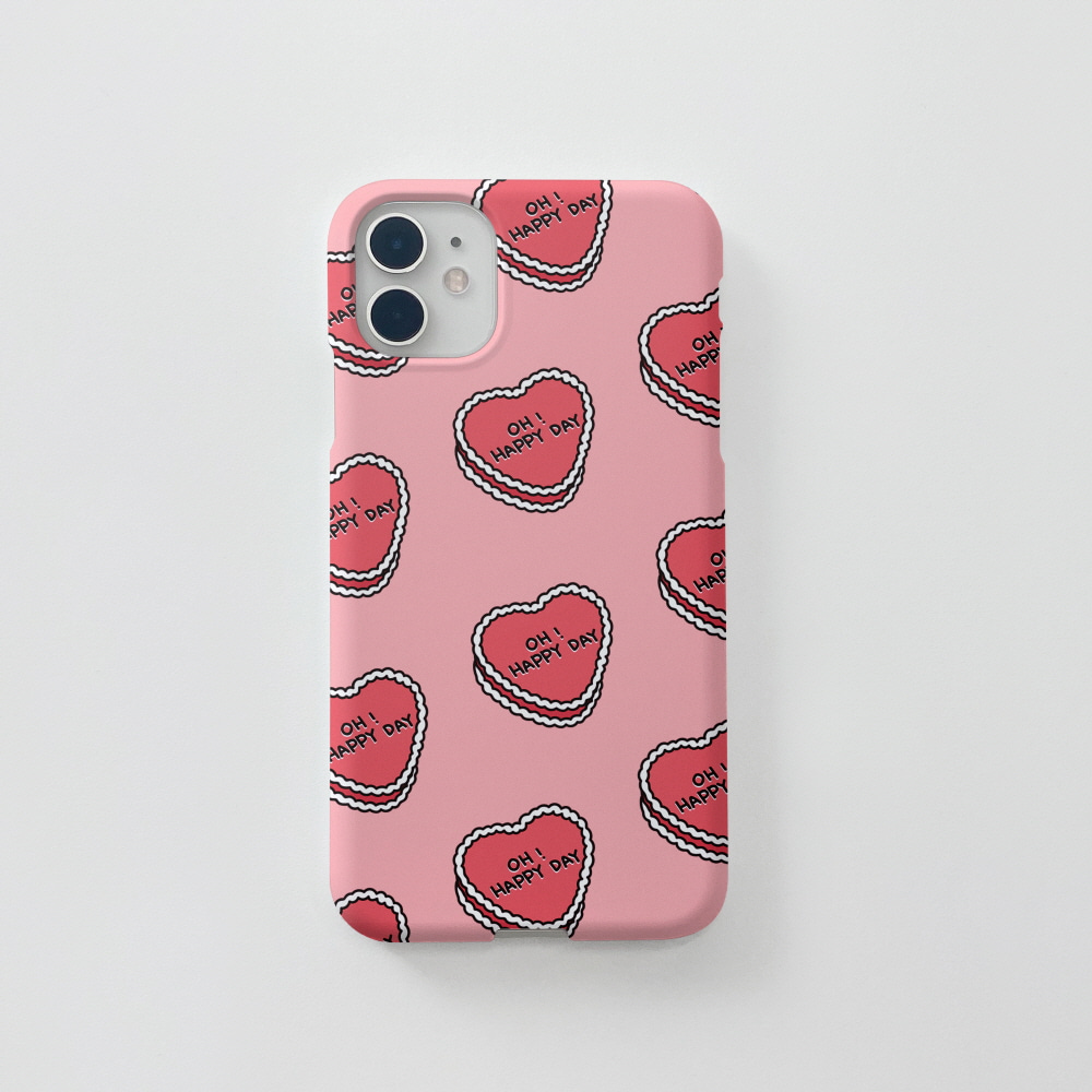 P 케키 패턴 핑크