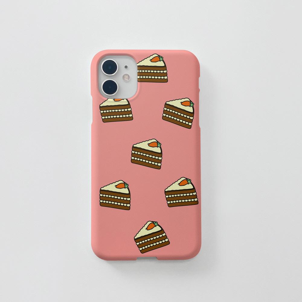 캐롯 케키 패턴 핑크