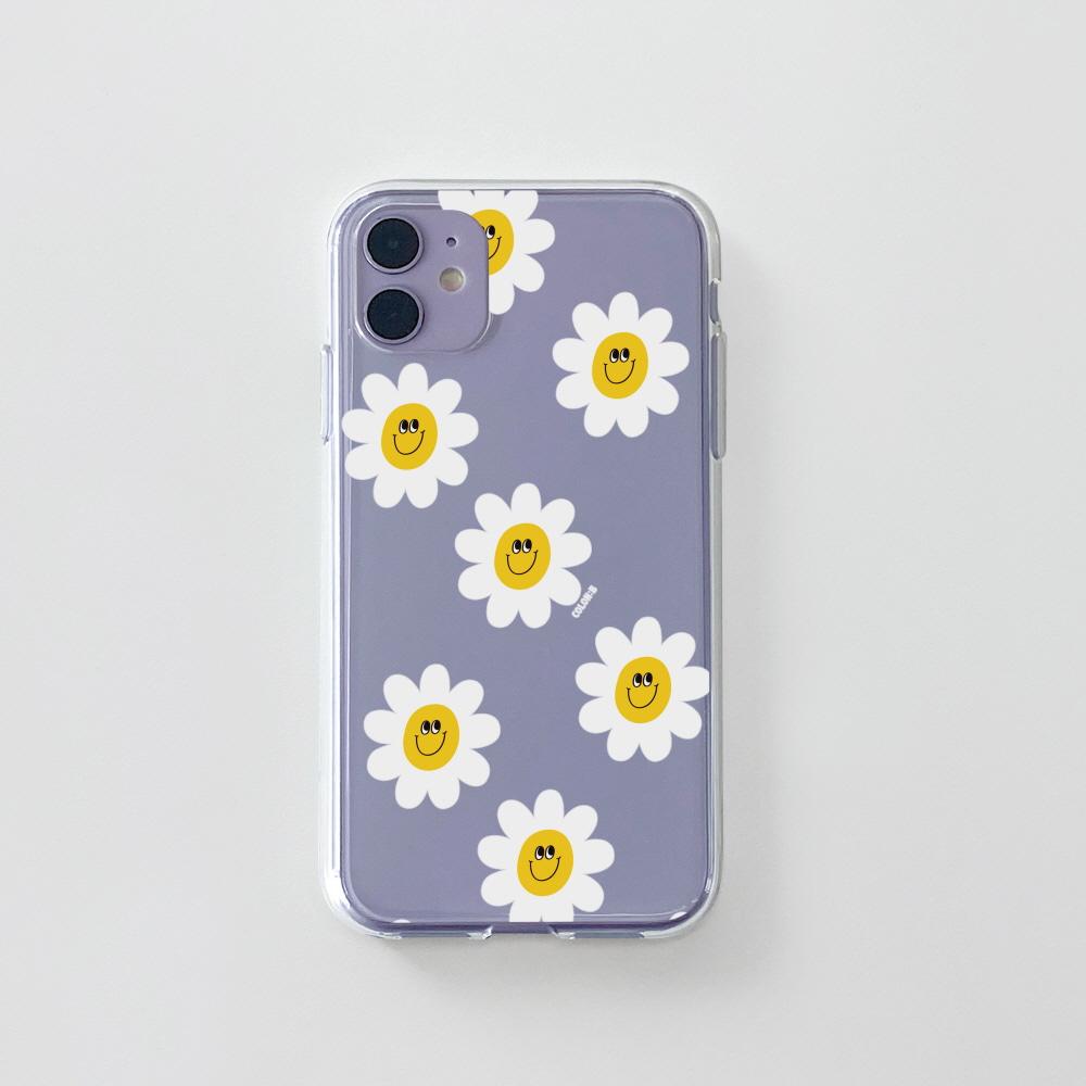 젤리) 욜로 데이지 패턴 . 아이폰 11 12 XS X 프로 맥스 갤럭시 노트20 S20 21 10 핸드폰 케이스