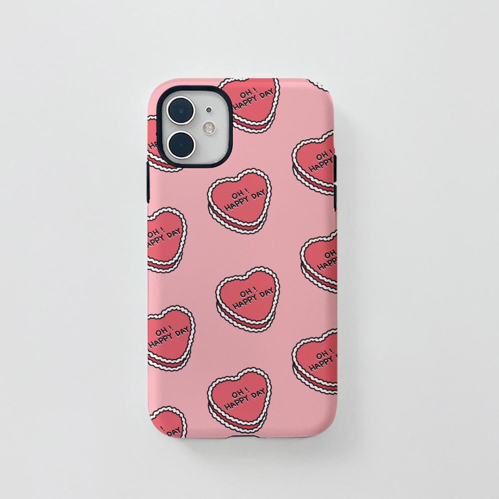 터프) P 케키 패턴 핑크