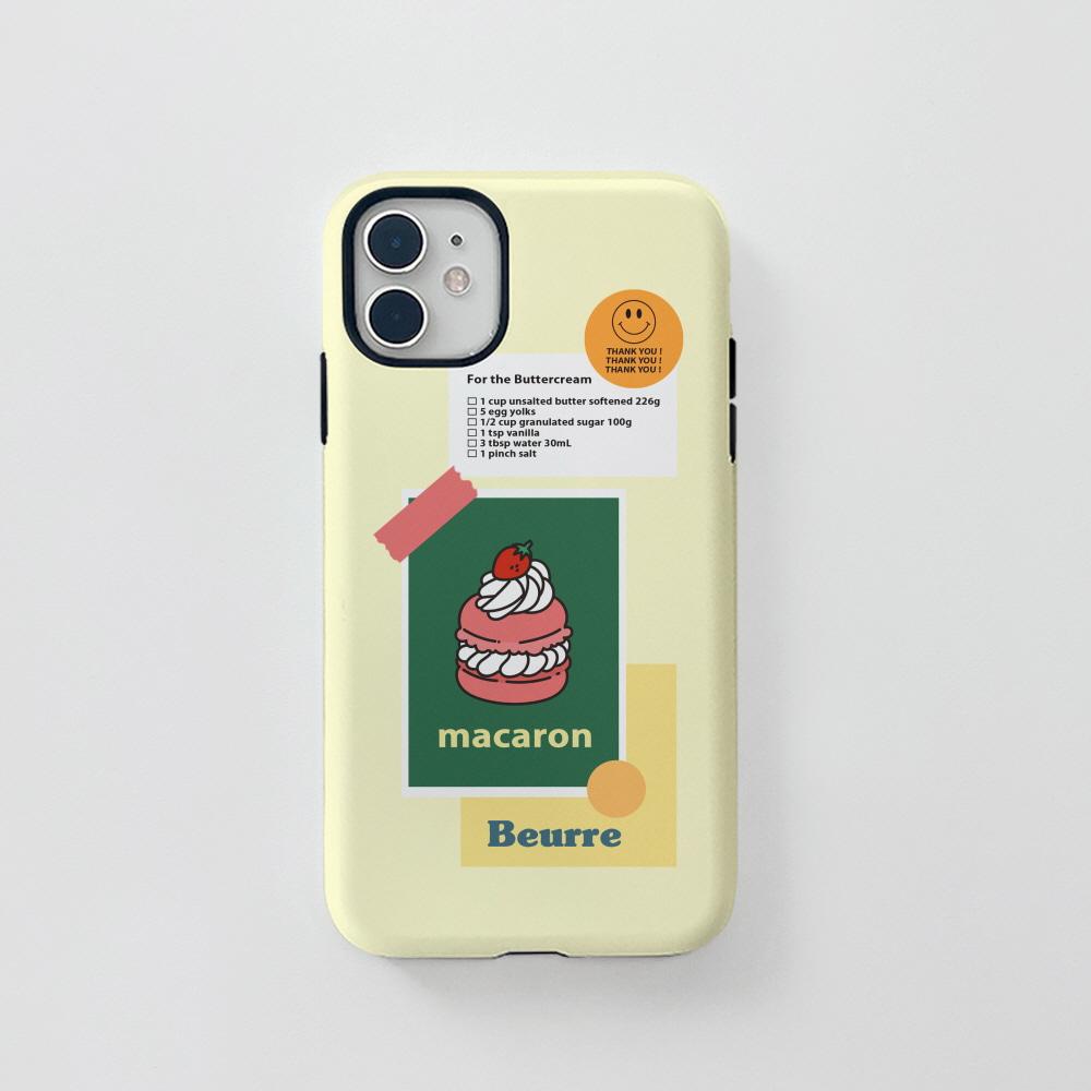 터프) 마카롱 스티커 . 아이폰 11 12 XS X 프로 맥스 갤럭시 노트20 S20 21 10 핸드폰 케이스
